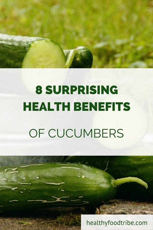 Cucumber health benefits pin