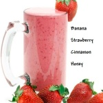 Banana berry smoothie ingredients