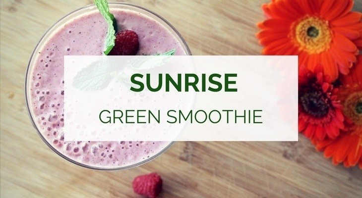 Sunrise green smoothie