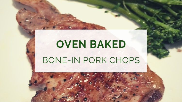 Oven baked bone-in pork chops recipe
