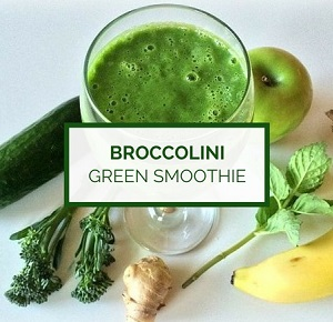 What is broccolini? Broccolini green smoothie recipe