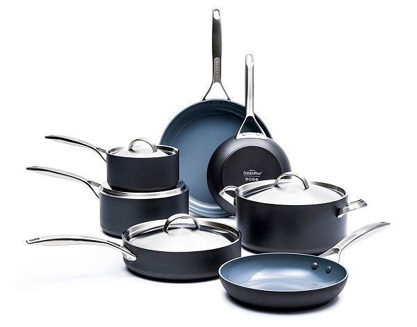 84815edef222 GreenPan Paris Pro 11 Piece Ceramic Non-Stick Cookware Set