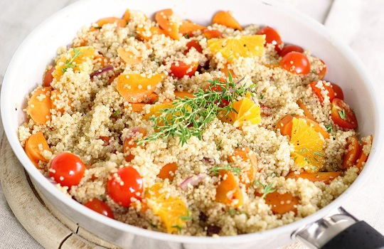 Quinoa is a popular vegan protein food