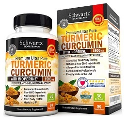 Best turmeric curcumin supplement: Schwartz Bioresearch