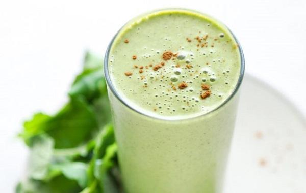 Morning green protein smoothie