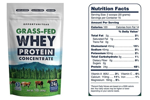 Opportuniteas Grass Fed Whey Protein Concentrate
