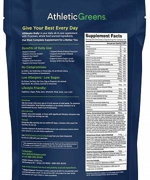Athletic Greens Premium Superfood Cocktail ingredients