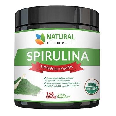 Natural Elements organic spirulina powder