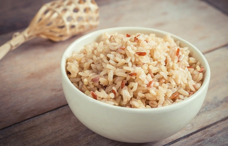 Brown rice provides lots of energy