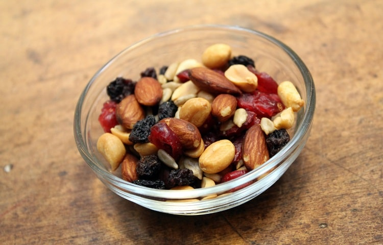 Eat trail mix for an instant energy boost