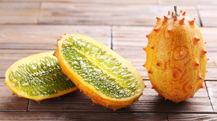Kiwano fruit also known as horned melon
