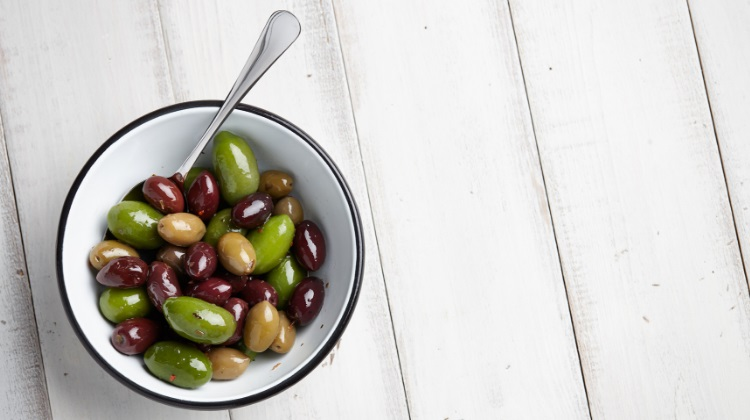 Olives in different colors