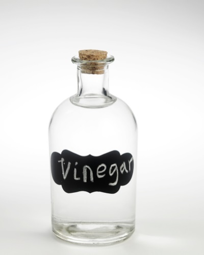 White vinegar is a natural stain remover