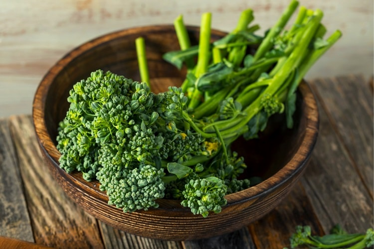 Broccolini as a side dish