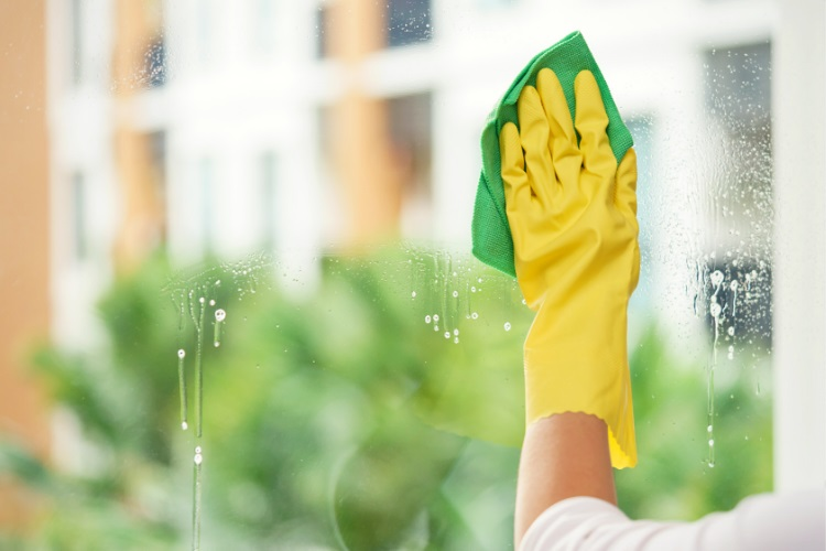 Denatured alcohol makes cleaning windows easier