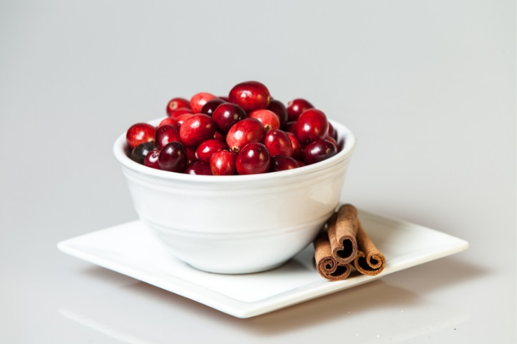 Cranberries are high in vitamin K