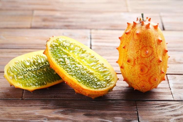 Kiwano fruit (aka horned melon)