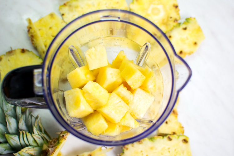 Pineapple in blender