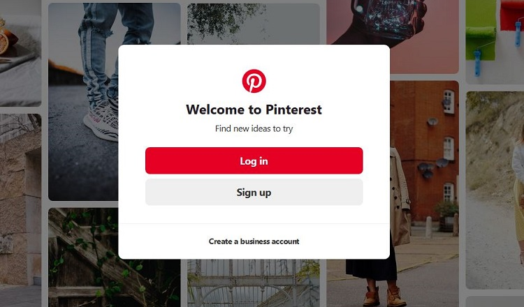 Create a Pinterest account for your food blog
