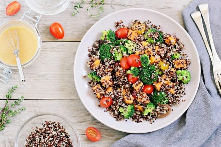 Nutritious quinoa salad