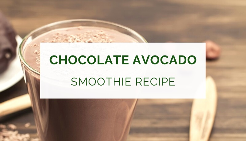 Chocolate avocado smoothie recipe