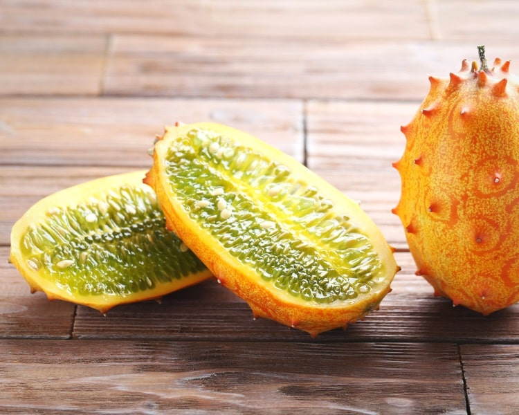 Kiwano fruit is also known as horned melon