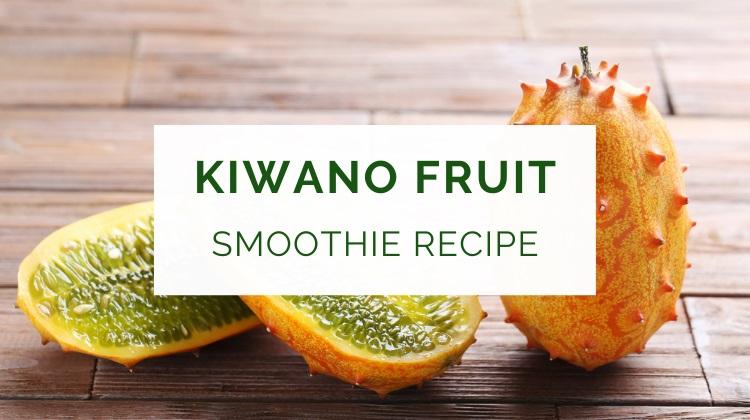 Kiwano melon fruit smoothie recipe