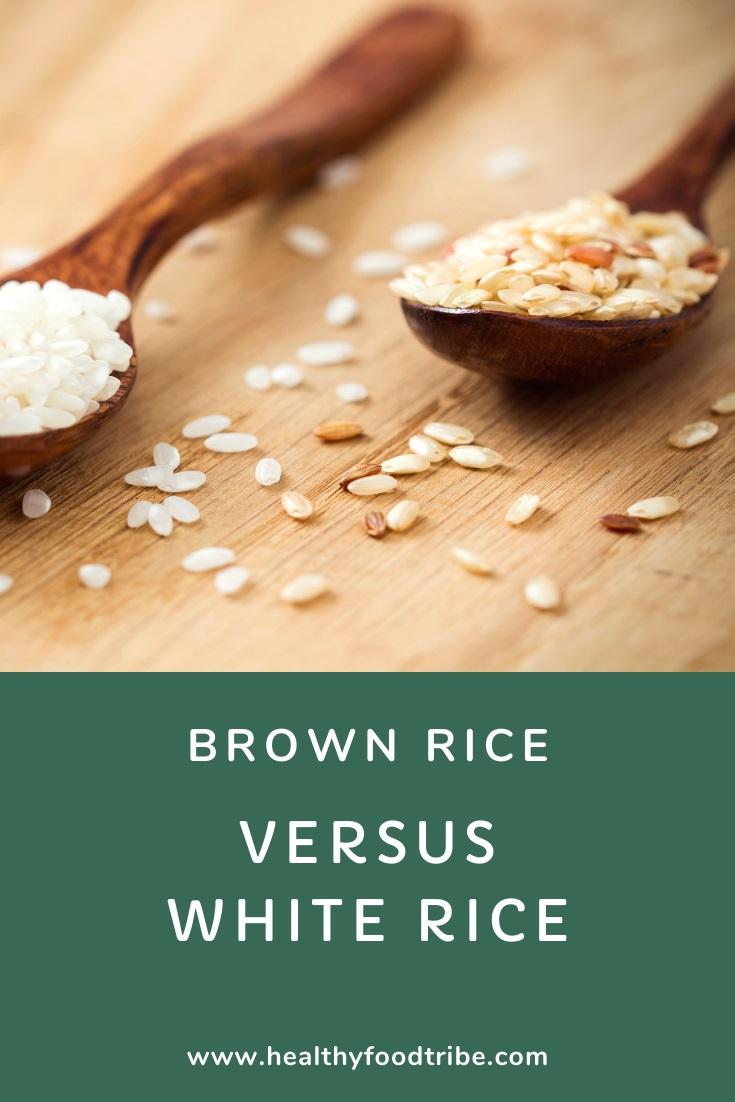 Brown rice versus white rice
