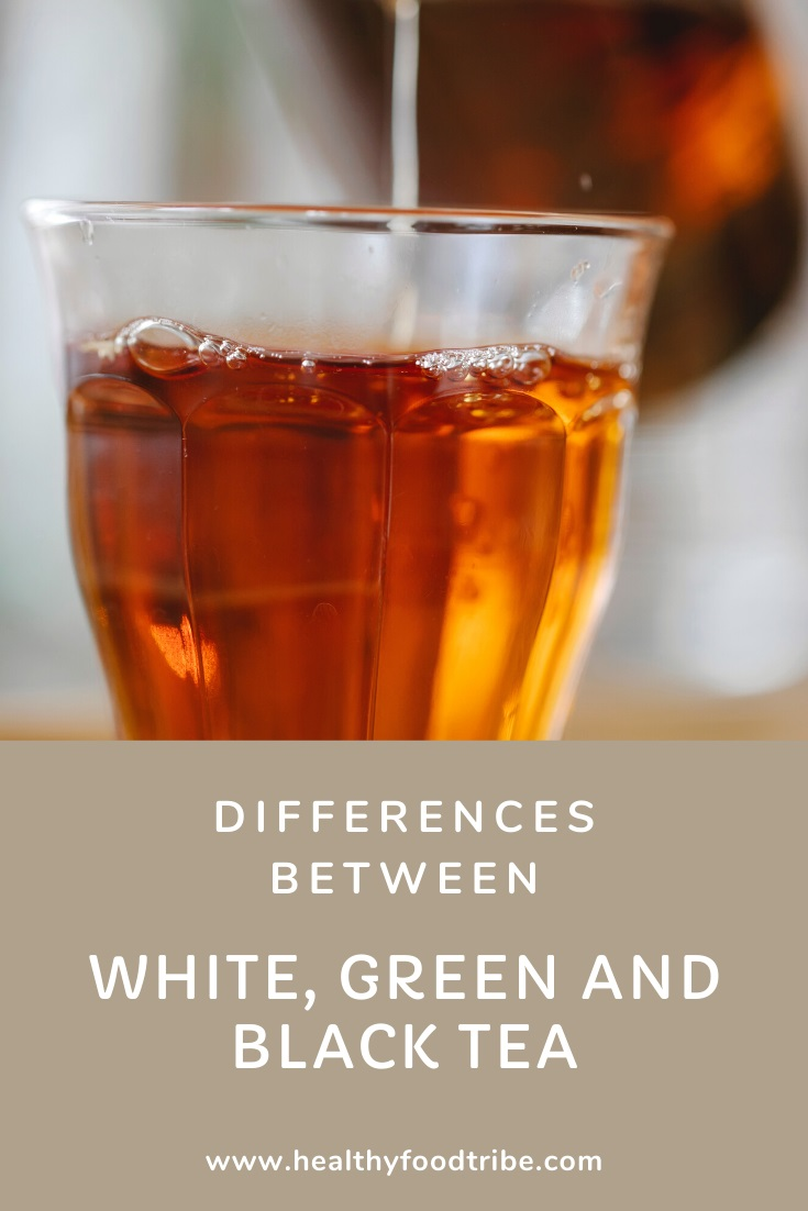 Differences between white, green and black tea