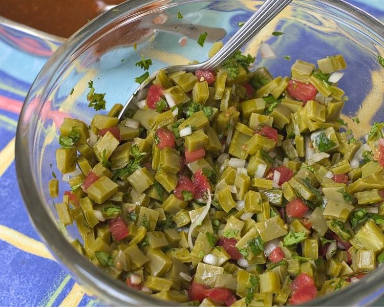 Nopales salad